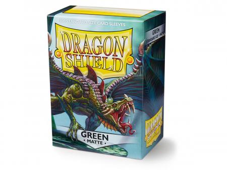 Standard Sleeves: Matte Green 63x88mm (100 buc) - Dragon Shield0