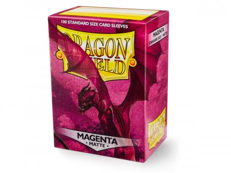 Standard Sleeves: Matte Magenta 63x88mm (100 buc) - Dragon Shield0