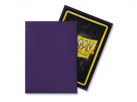Standard Sleeves: Matte Purple 63x88mm (100 buc) - Dragon Shield1