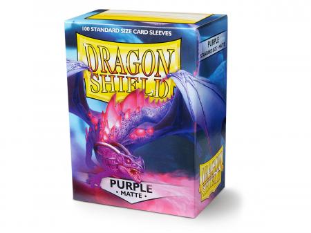 Standard Sleeves: Matte Purple 63x88mm (100 buc) - Dragon Shield0