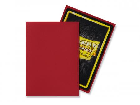 Standard Sleeves: Matte Red 63x88mm (100 buc) - Dragon Shield1