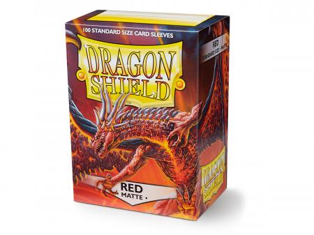 Standard Sleeves: Matte Red 63x88mm (100 buc) - Dragon Shield0
