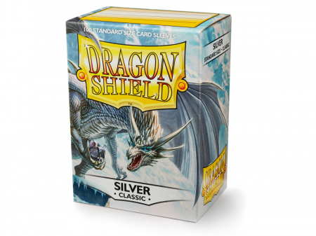 Standard Sleeves: Silver 63x88mm (100 buc) - Dragon Shield0