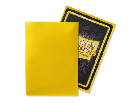 Standard Sleeves: Yellow 63x88mm (100 buc) - Dragon Shield1