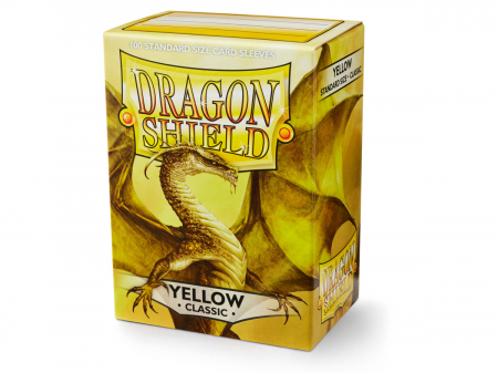 Standard Sleeves: Yellow 63x88mm (100 buc) - Dragon Shield0