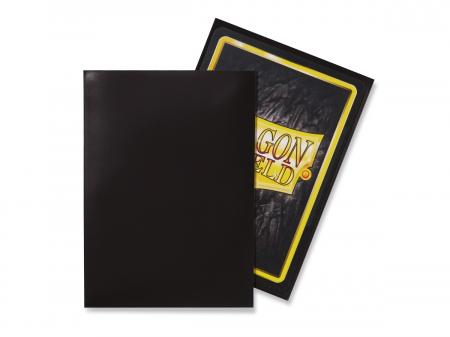 Standard Sleeves: Black 63x88mm (100 buc) - Dragon Shield1