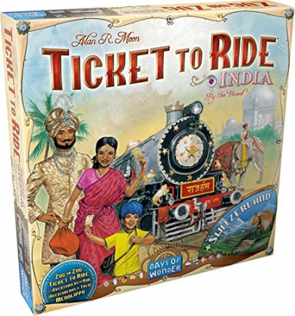Ticket To Ride India + Switzerland: Map Collection (Extensie) - EN0