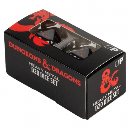 Heavy Metal D20 Dice Set for Dungeons & Dragons - UP1