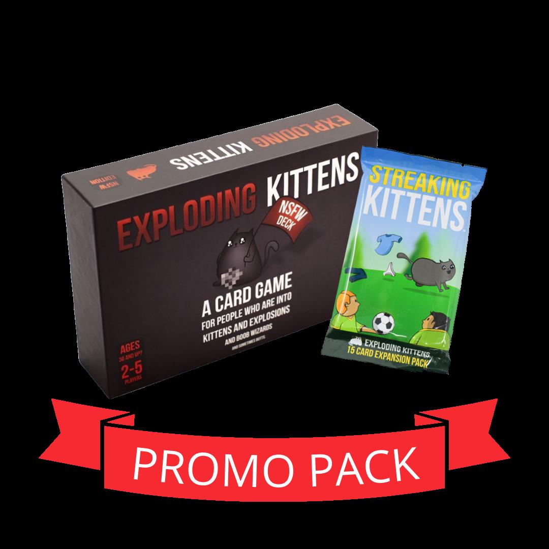 Exploding Kittens NSFW  Streaking Kittens - Promo Pack