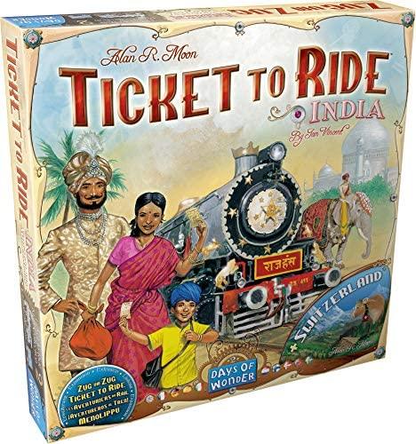 Ticket To Ride India + Switzerland: Map Collection (Extensie) - EN