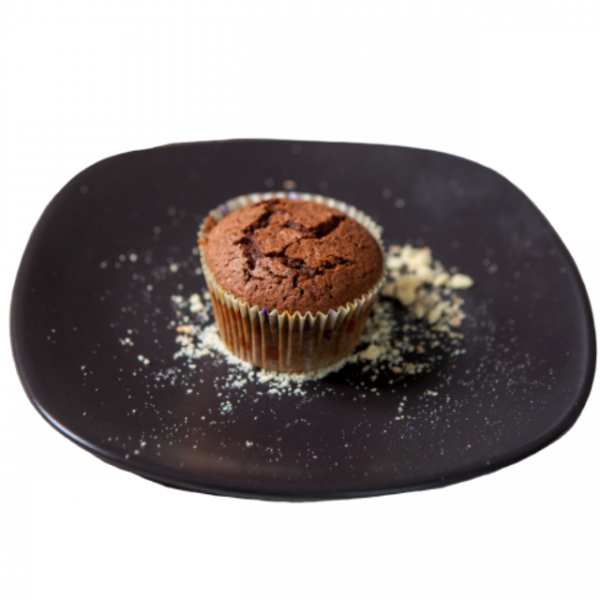 Brioșă cu cacao și ciocolată, fără lactoză 0