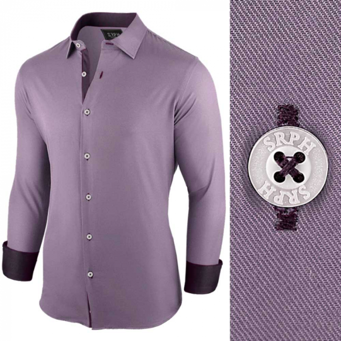 Camasa pentru barbati, violet, regular fit, casual - Business Class Ultra 0