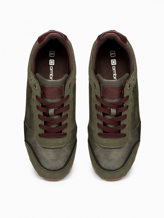 Sneakers casual barbati - T332 - khaki 4