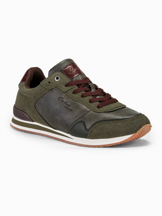 Sneakers casual barbati - T332 - khaki 0