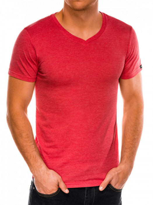 Tricou slim fit barbati S1041 - corai 0