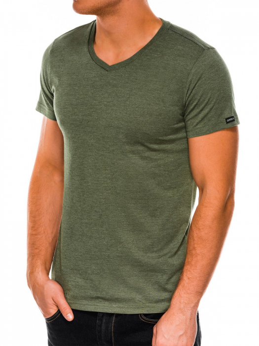 Tricou slim fit barbati S1041 - verde 3