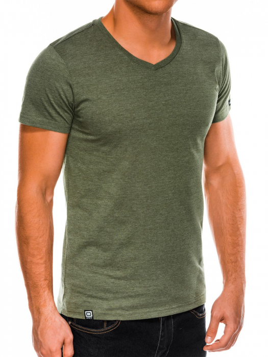 Tricou slim fit barbati S1041 - verde 0