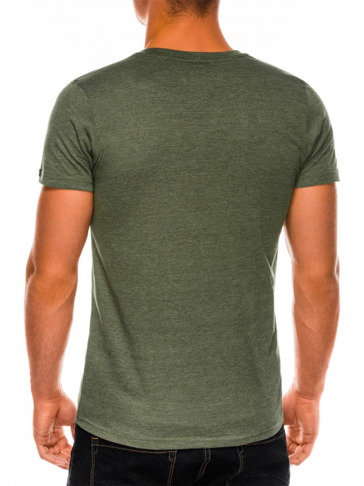 Tricou slim fit barbati S1041 - verde 4