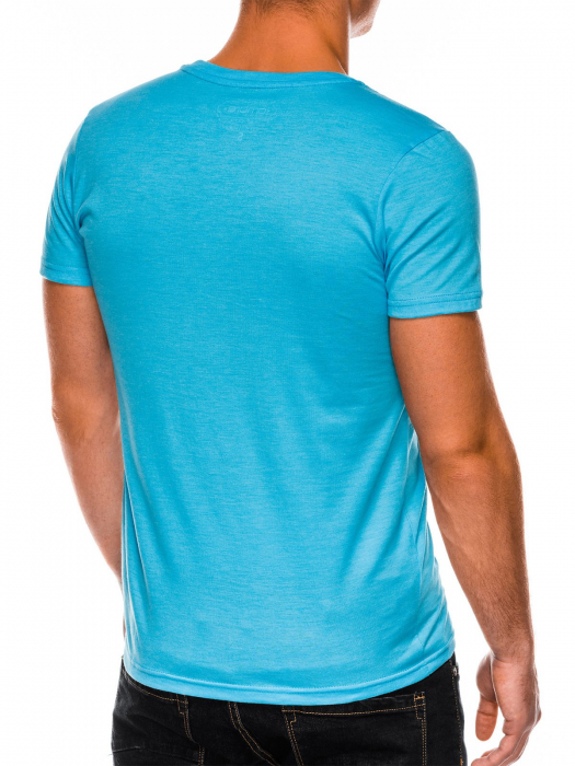 Tricou slim fit barbati S1041 - turcoaz 4