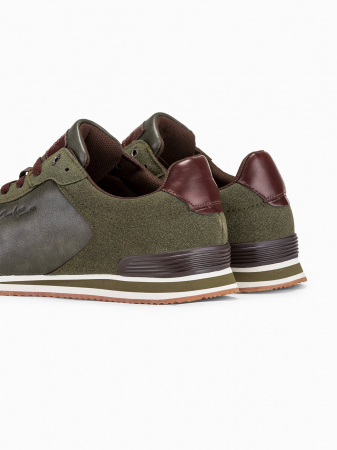 Sneakers casual barbati - T332 - khaki3
