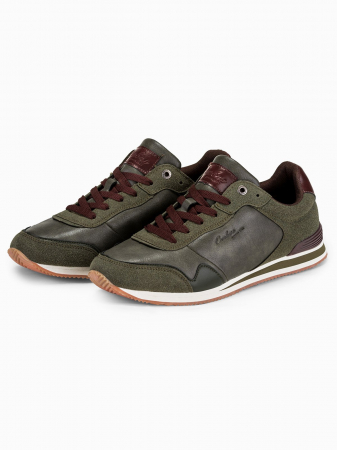 Sneakers casual barbati - T332 - khaki2