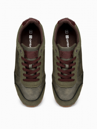 Sneakers casual barbati - T332 - khaki4