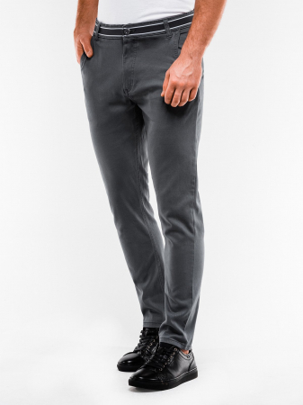 Pantaloni barbati, casual, slim fit P156-gri2