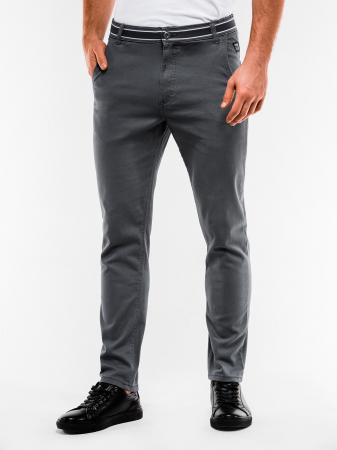 Pantaloni barbati, casual, slim fit P156-gri1