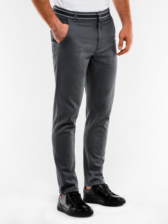 Pantaloni barbati, casual, slim fit P156-gri0
