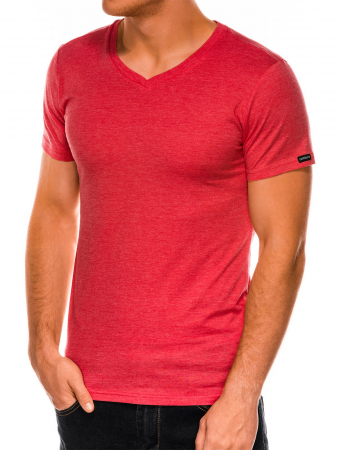 Tricou slim fit barbati S1041 - corai2