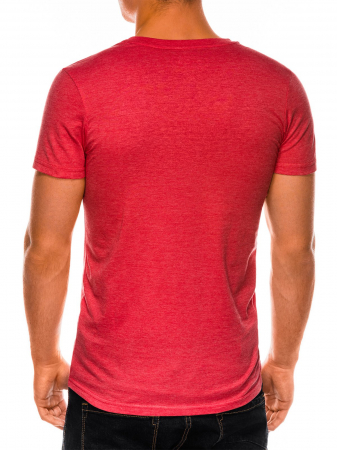 Tricou slim fit barbati S1041 - corai4