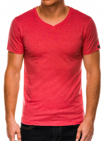 Tricou slim fit barbati S1041 - corai3