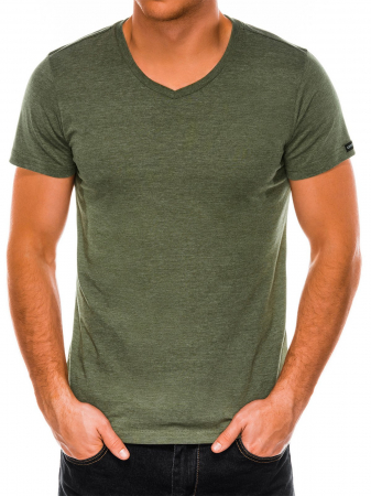 Tricou slim fit barbati S1041 - verde2