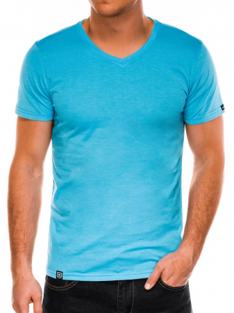 Tricou slim fit barbati S1041 - turcoaz2