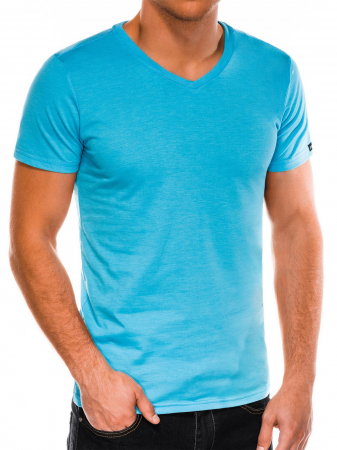 Tricou slim fit barbati S1041 - turcoaz3