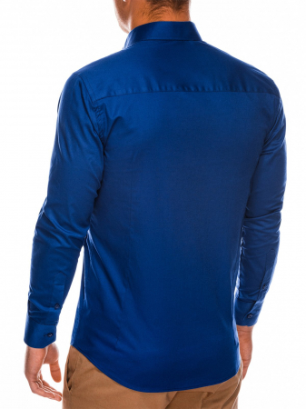 Camasa slim fit barbati K504 - bleumarin4