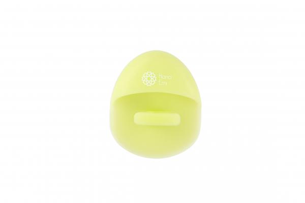 Burete curatare faciala verde Hana Emi, din silicon alimentar moale si felxibil pentru curățarea în profunzime a tenului si masaj facial 4