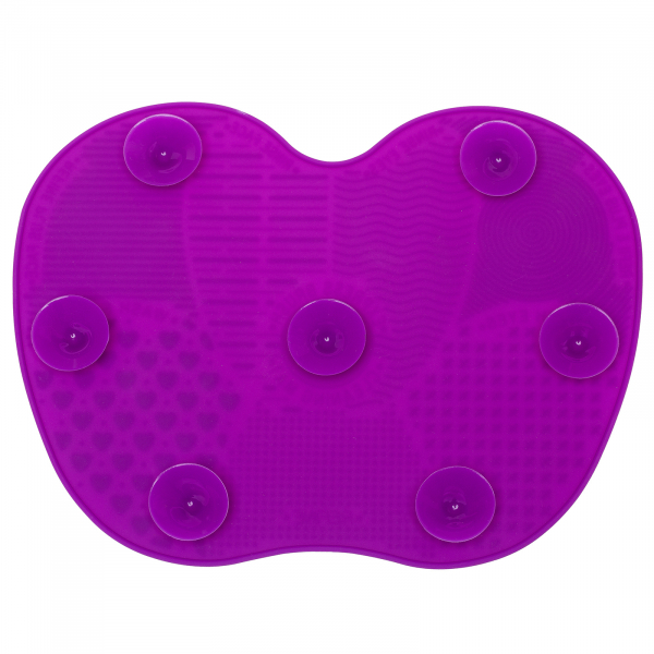 Paleta curatare pensule apple large din silicon (dark purple) 4