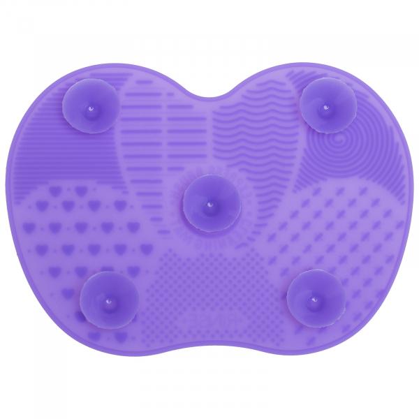 Paleta curatare pensule apple medium din silicon (purple) 5