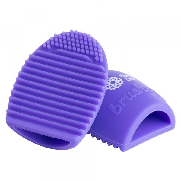 Paleta curatare pensule Egg din silicon (purple) 0