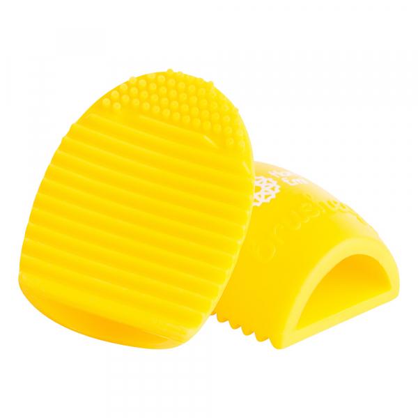 Paleta curatare pensule Egg din silicon (sunshine) 0