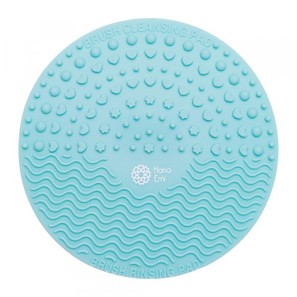 Paleta curatare pensule rotunda din silicon (mint)