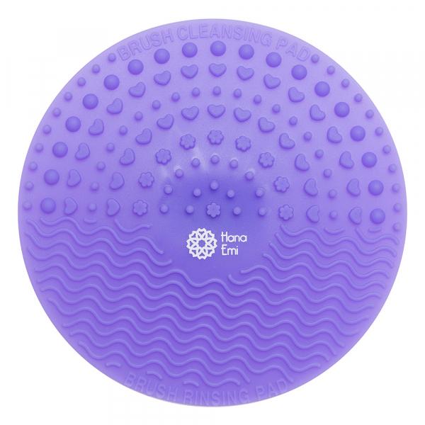 Paleta curatare pensule rotunda din silicon (purple) 0