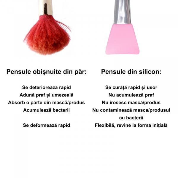 Pensula aplicare masca din silicon (light pink) 2