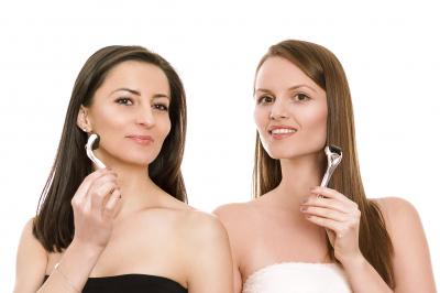 Derma Roller (Rola Dermatologica) Cu Microace Din Titaniu De 0.5 mm0