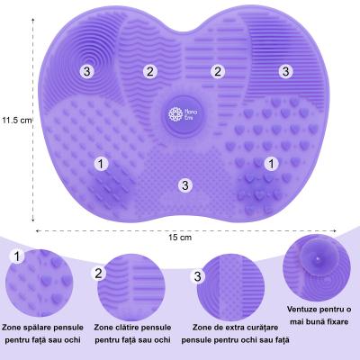Paleta curatare pensule apple medium din silicon (purple)2