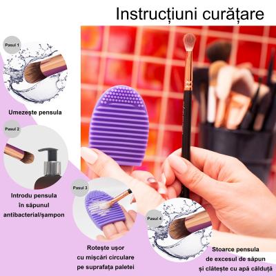 Paleta curatare pensule Egg din silicon (purple)3