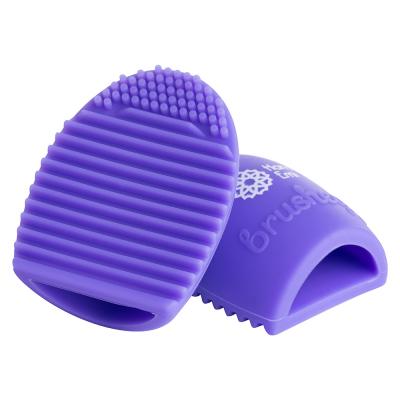 Paleta curatare pensule Egg din silicon (purple)0