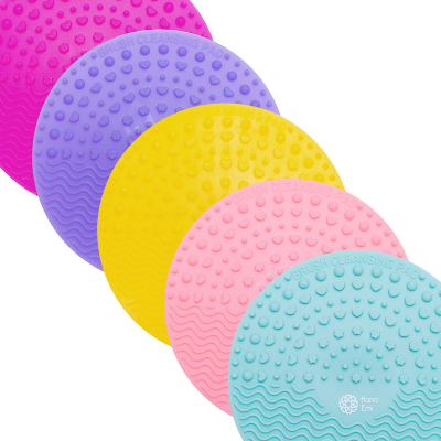 Paleta curatare pensule rotunda din silicon (fuchsia)5