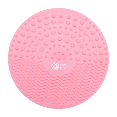 Paleta curatare pensule rotunda din silicon (light pink)